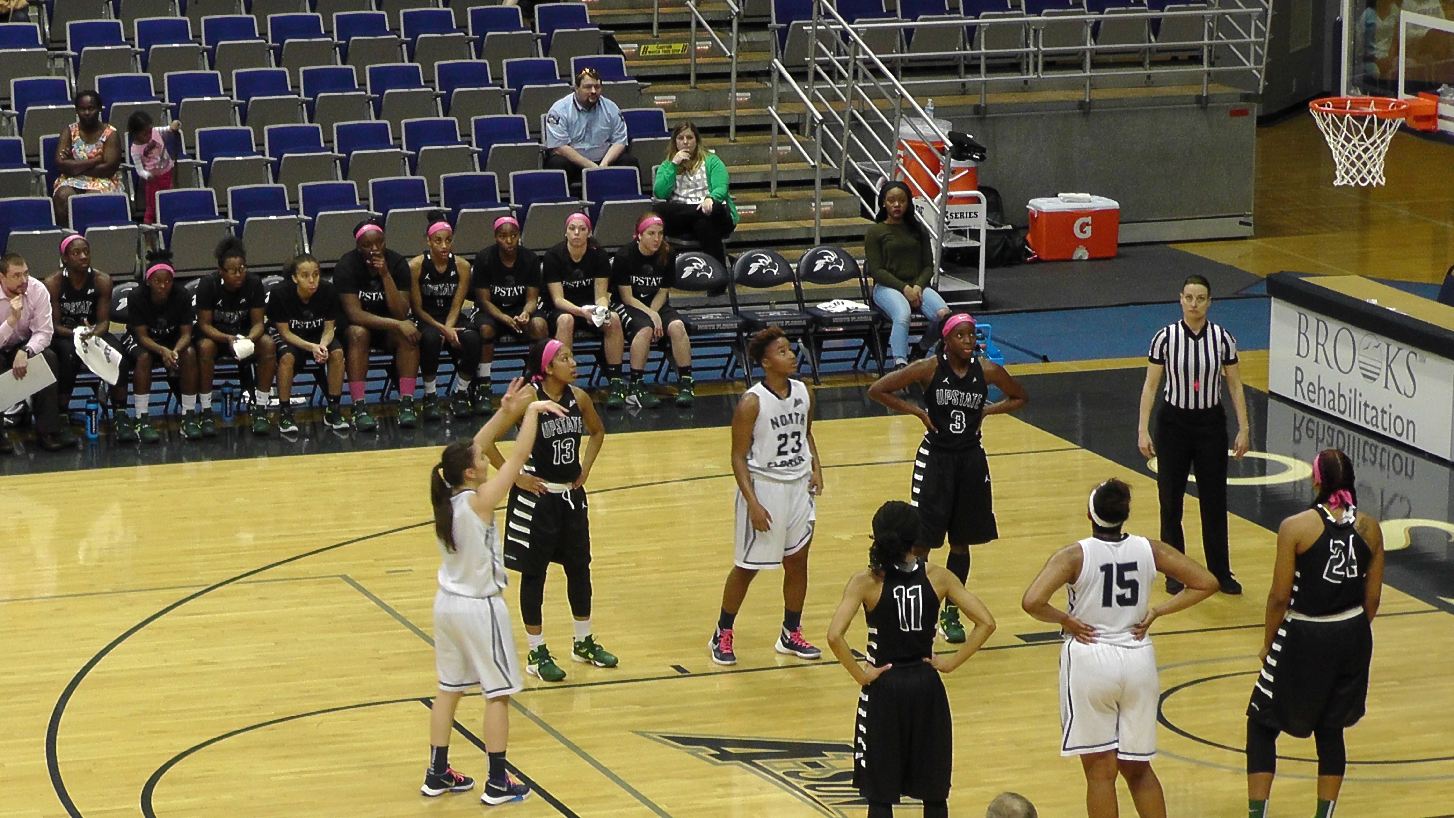 Women's basketball falls to Upstate; one home game to go