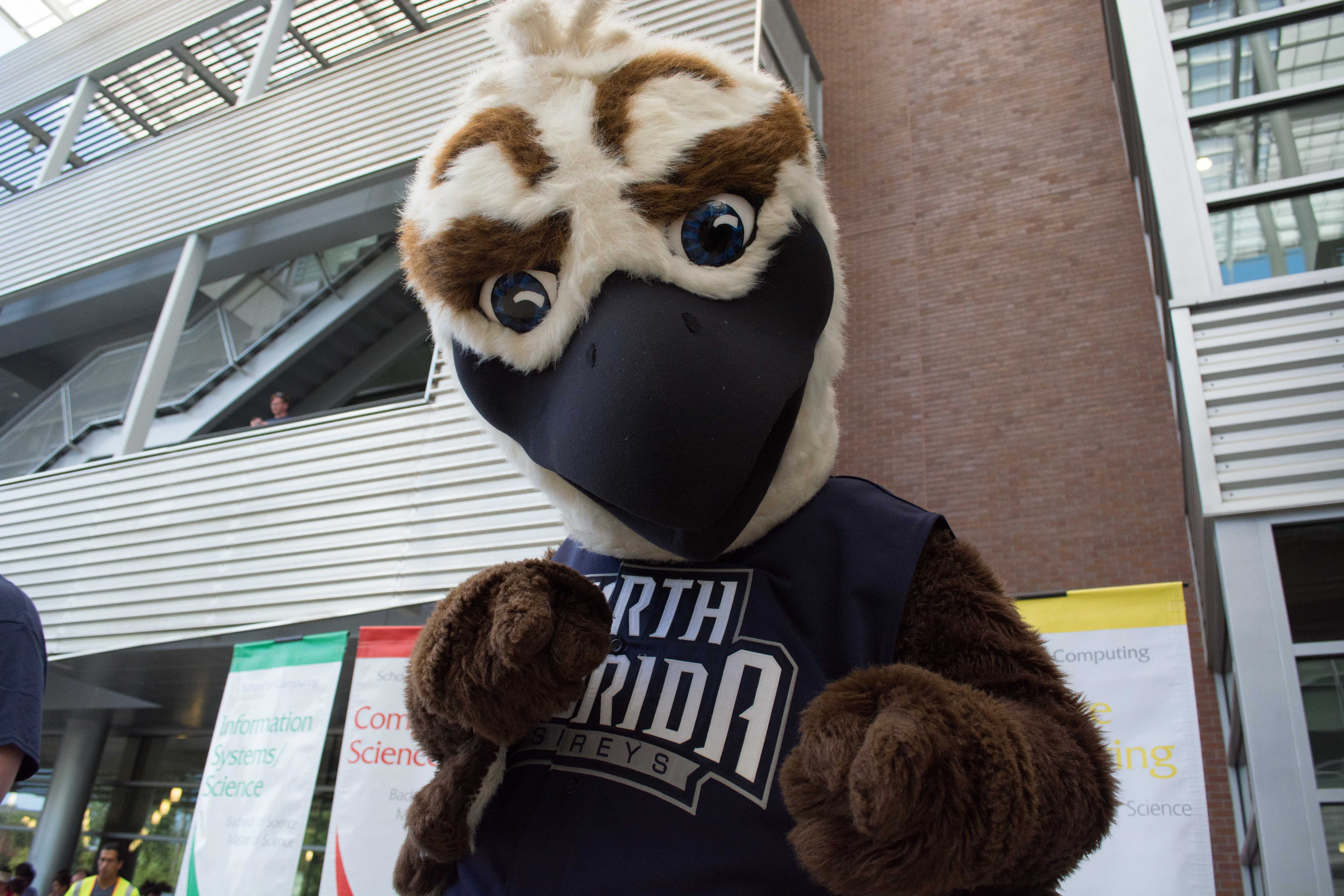 Ozzie the Osprey featured in competition for Mid-Major's best mascot