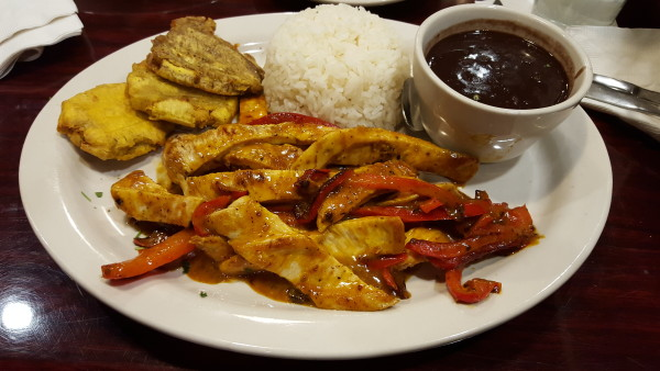 The Pollo de Oro has just enough spice to excite your taste buds without opening your sinuses too wide. Photo by Courtney Stringfellow.