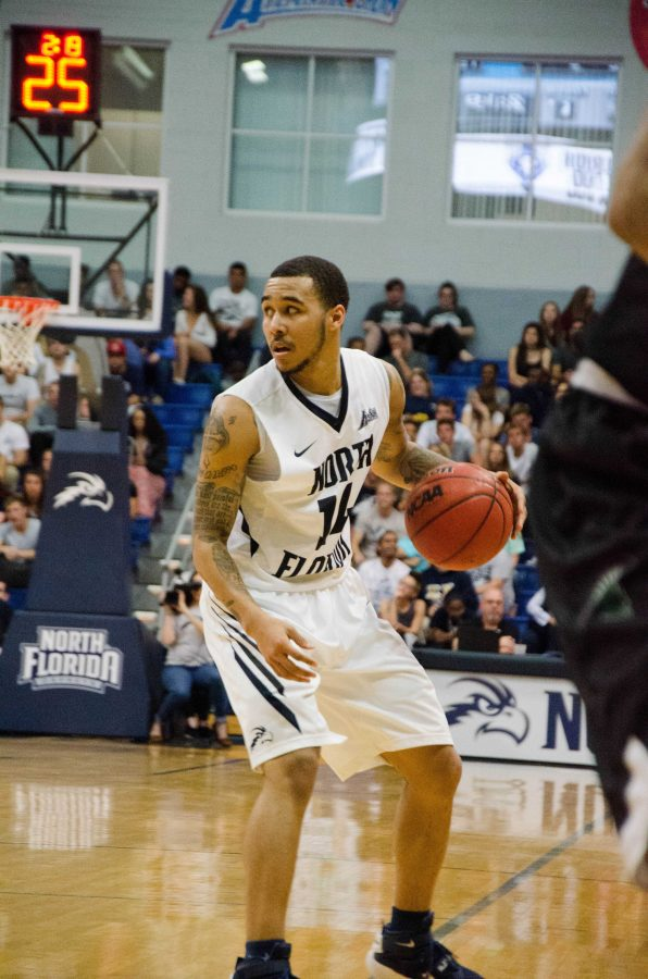 Dallas Moore is the first Osprey to be named A-Sun Player of the Year.  Photo by Connor Spielmaker