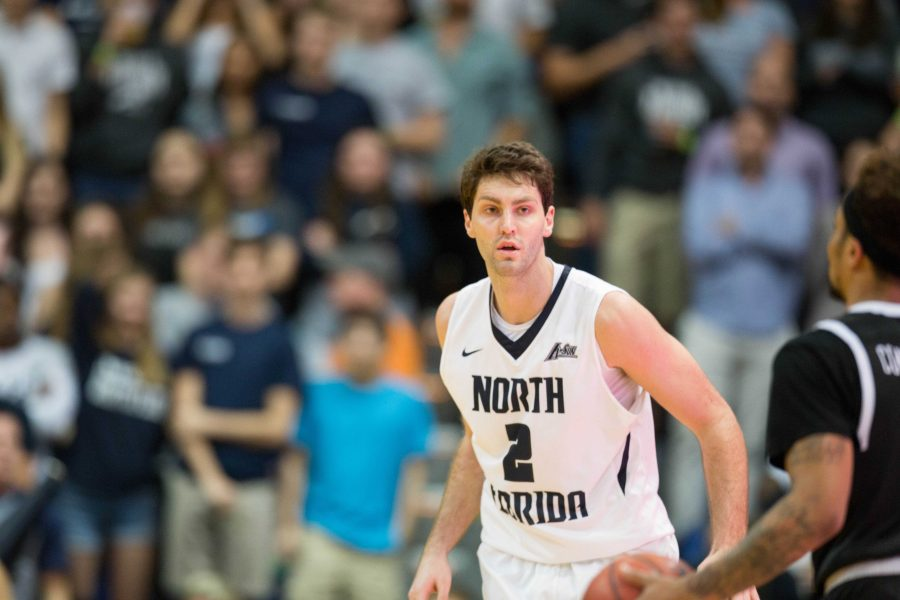 Beech finished his career as the second-leading scorer in UNF history.    Photo by Connor Spielmaker