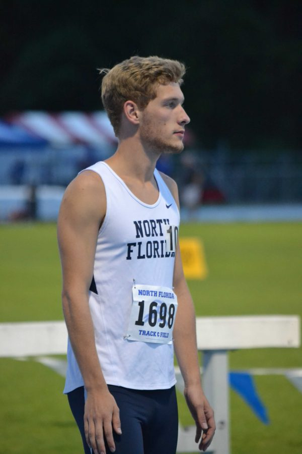 Freshman Fynn Timm won the 300m steeplechase for the Ospreys this weekend.  Photo by Emily Woodbury