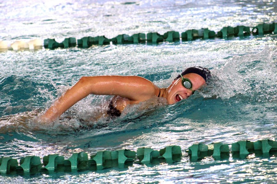 Amy Taylor has become one of the most accomplished swimmers in UNF history. Photo courtesy of UNF Athletics.