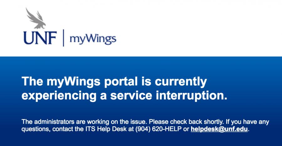 Screenshot of myWings homepage.