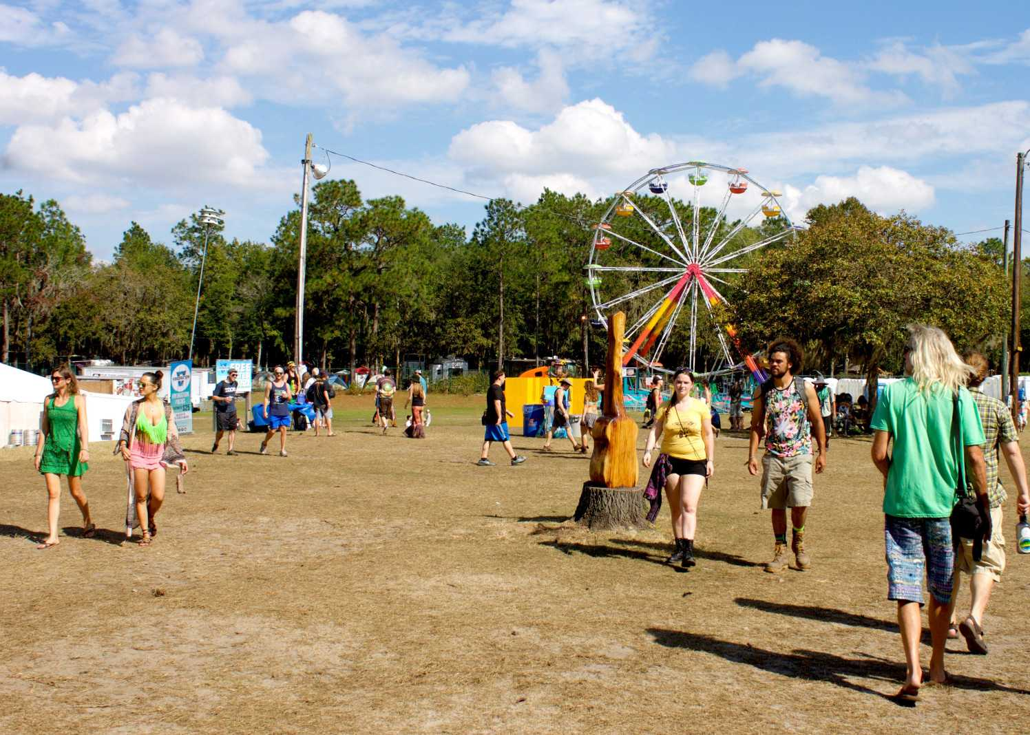 Spirit of the Suwannee Music Park brings amusement of all kinds to their park during festivals. <i>Photo by Sarah De Nicolais</i>
