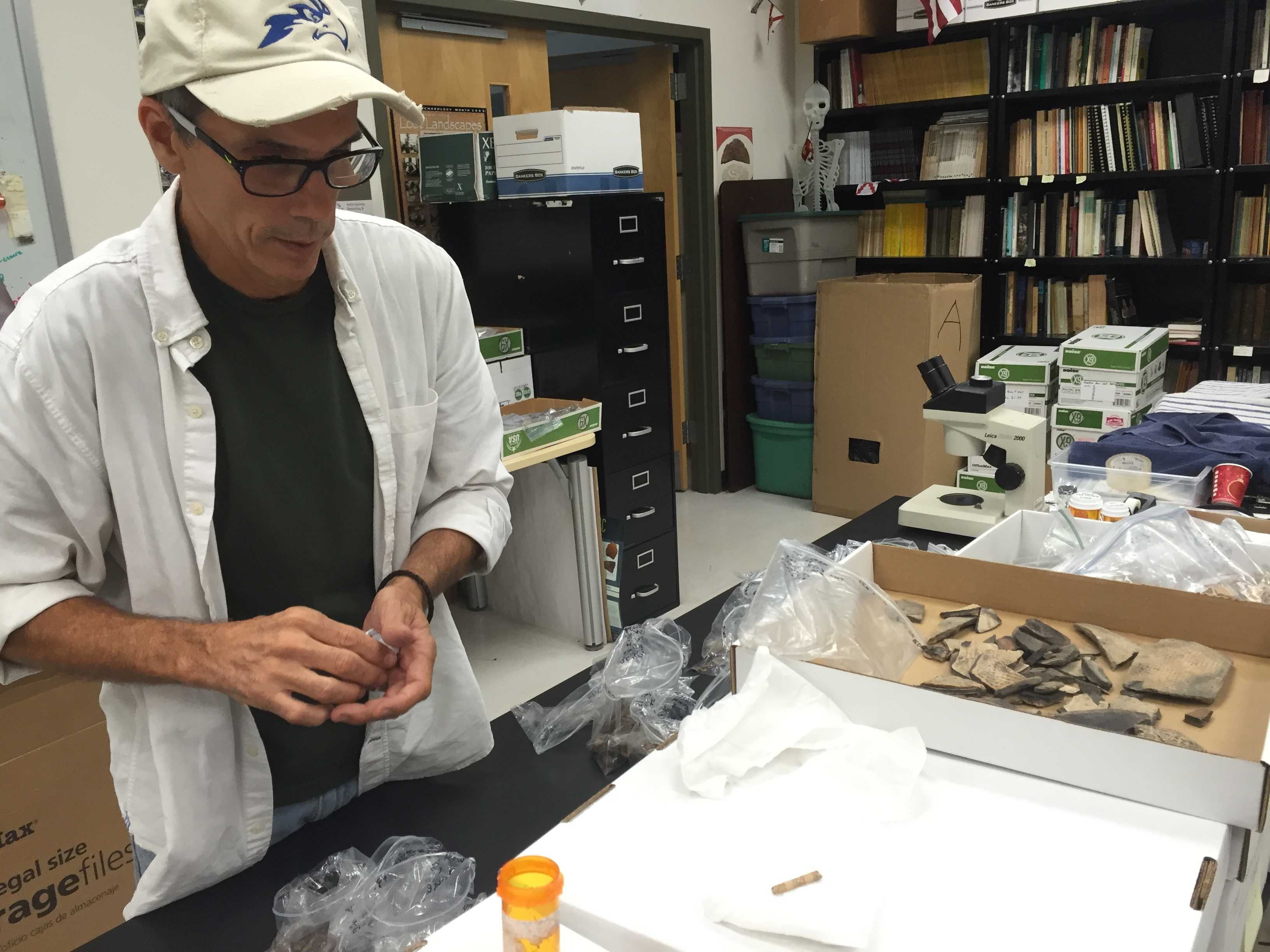 Archaeology students find wealth of knowledge in Native American trash piles