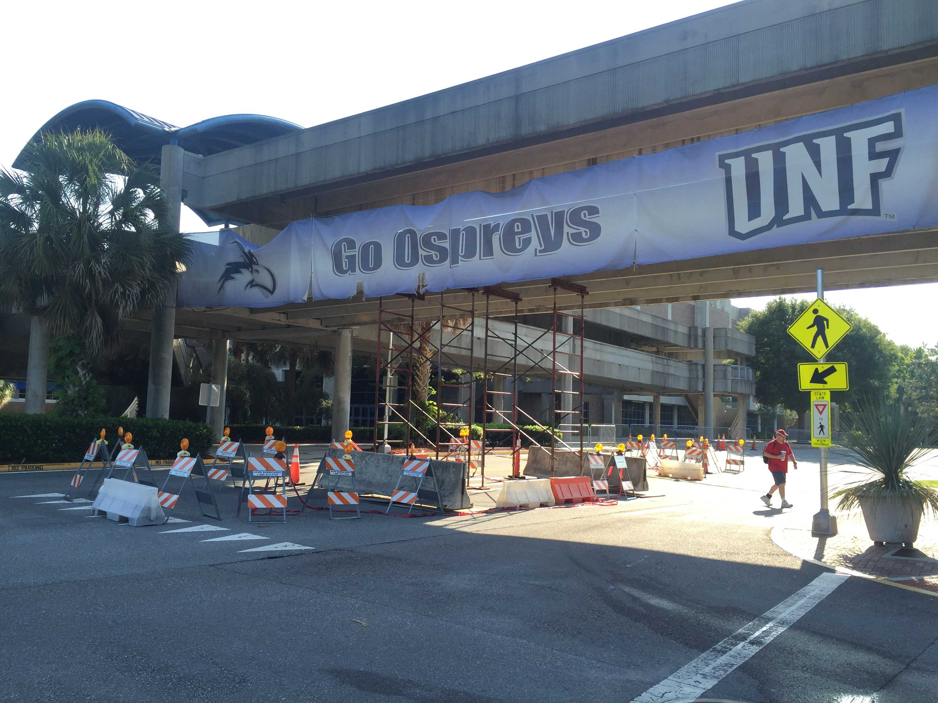 Arena walkway is coming down