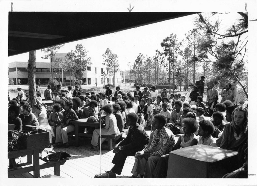 Black History Week at the Boathouse,1976. Courtesy of UNF Special Collections and University Archives.
