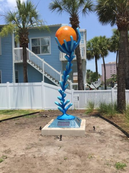 """Symbiosis"" is the newest piece of Ratcliff that will be displayed in the upcoming Seaside Sculpture Park in Jacksonville Beach."