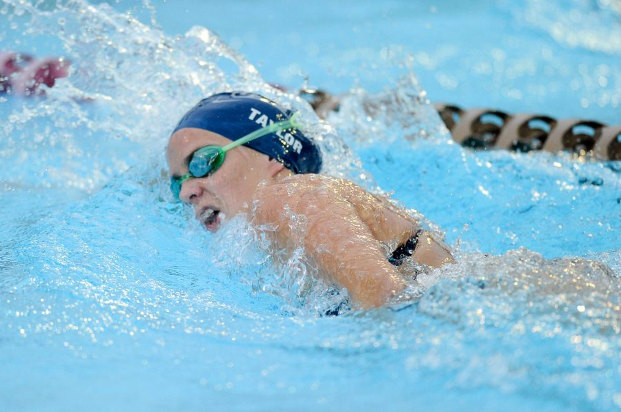 Amy Taylor, one of UNFs most prolific swimmers, remained at the University despite losing the pool.  Photo courtesy of UNF Athletics