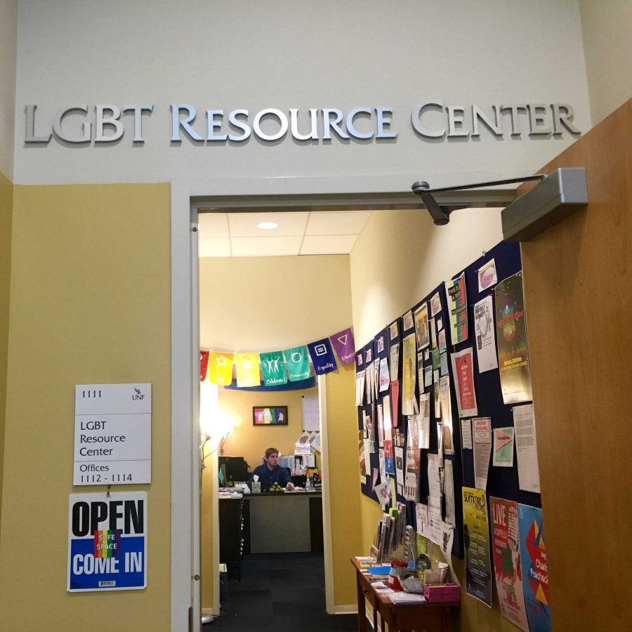 Entry to the LGBT Resource Center. Photo by Tiffany Butler.