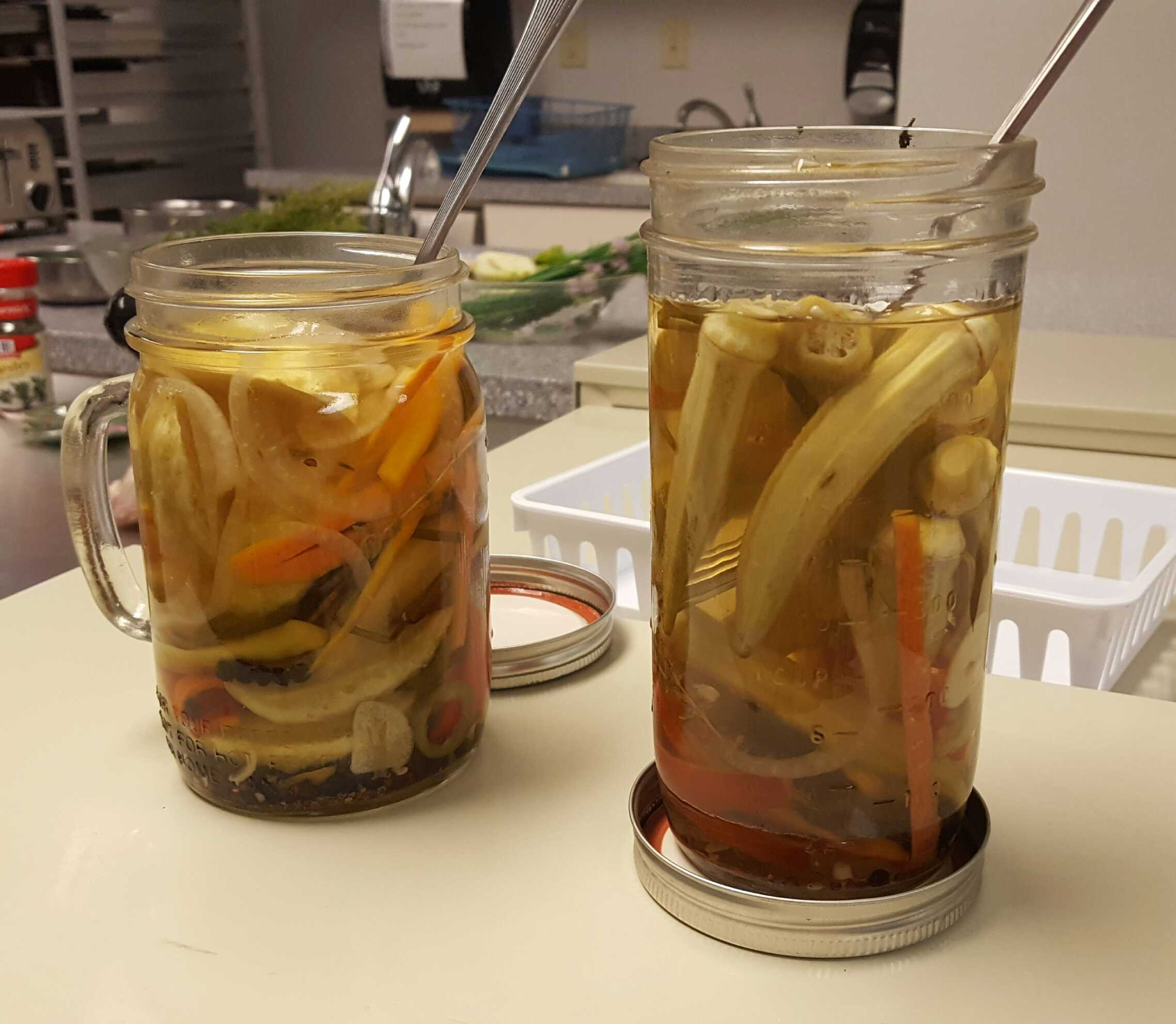 Students learn the process of pickling without creating a health hazard