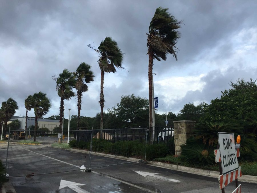 UNF during Hurricane Matthew. Photo by Tiffany Salameh