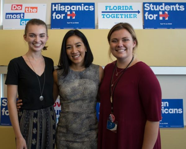 Political clubs on campus support their party's candidates
