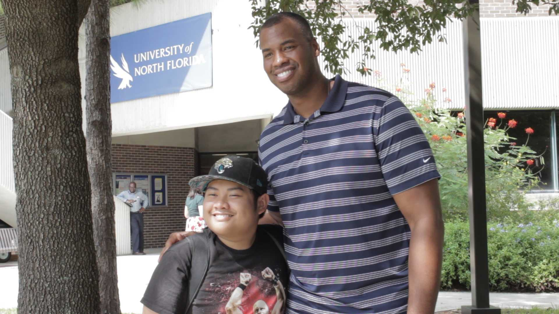 First openly gay NBA player Jason Collins stops by UNF