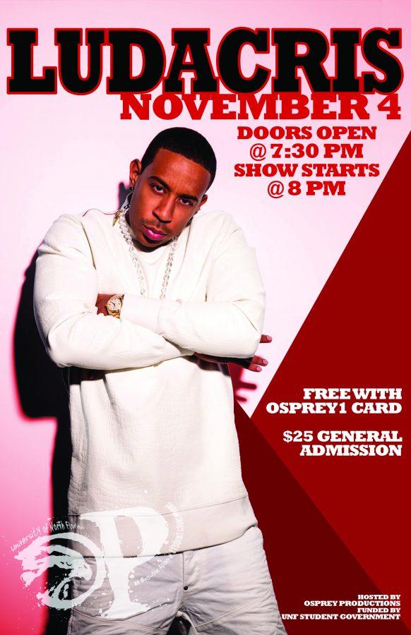 Ludacris headlining Osprey Productions fall concert