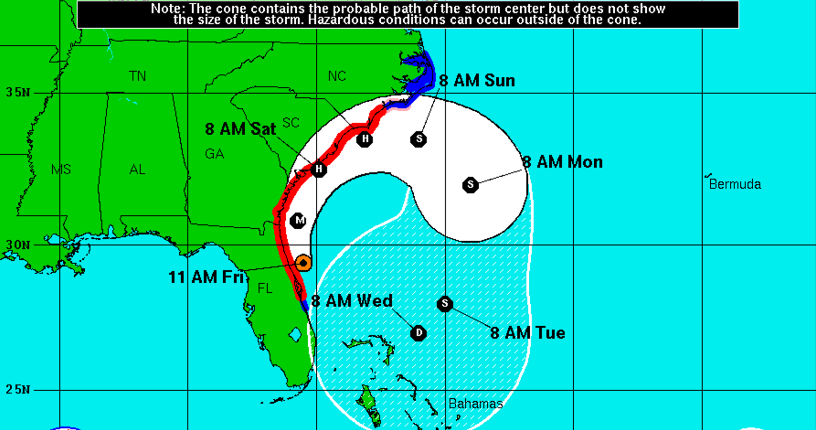 Hurricane Matthew 95 miles from Jacksonville; now at Category 3
