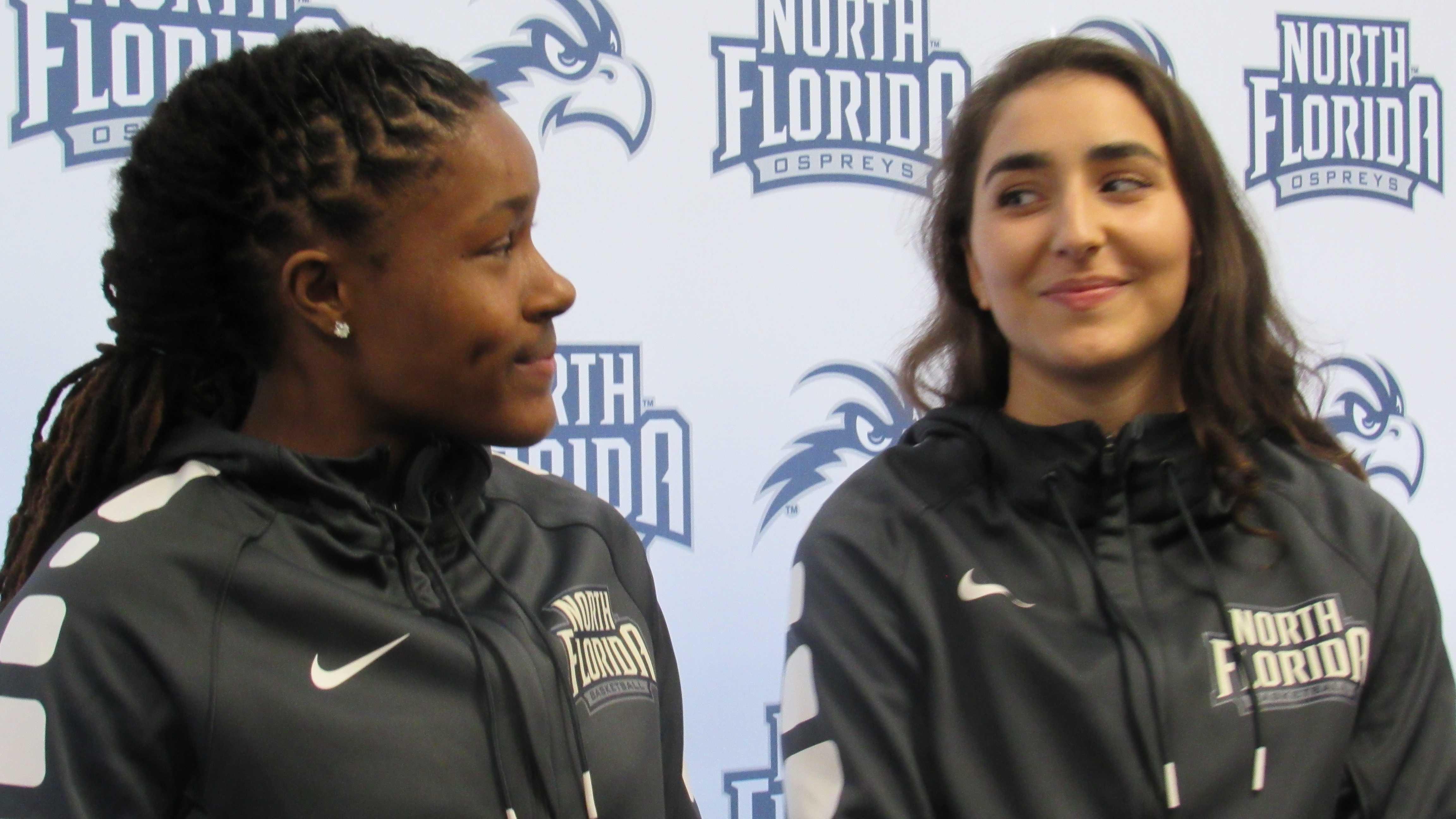 Women's Basketball Backcourt Duo: Sierra Shepherd and Claire Ioannidis