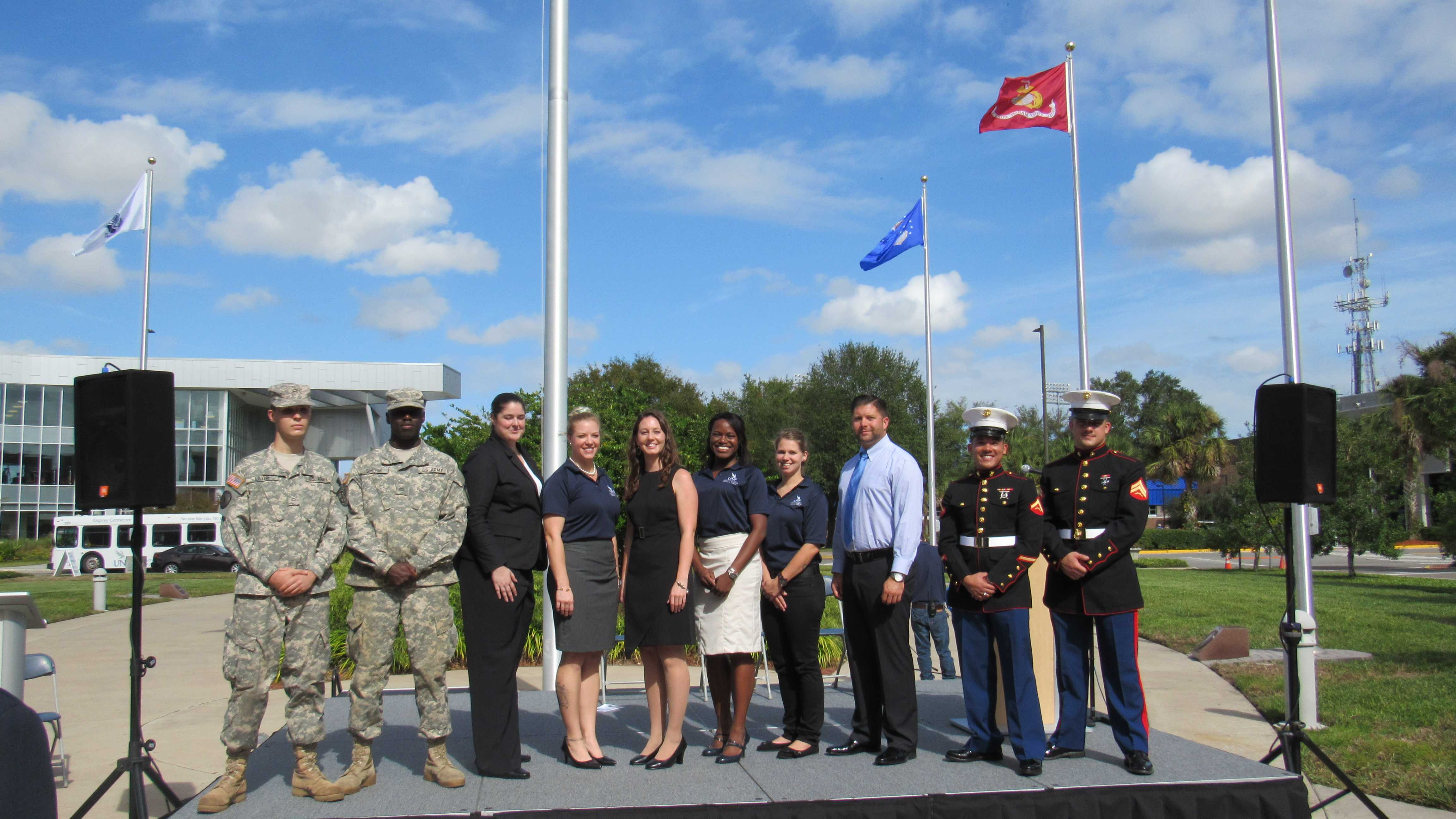 Services members honored with Veterans Plaza dedication