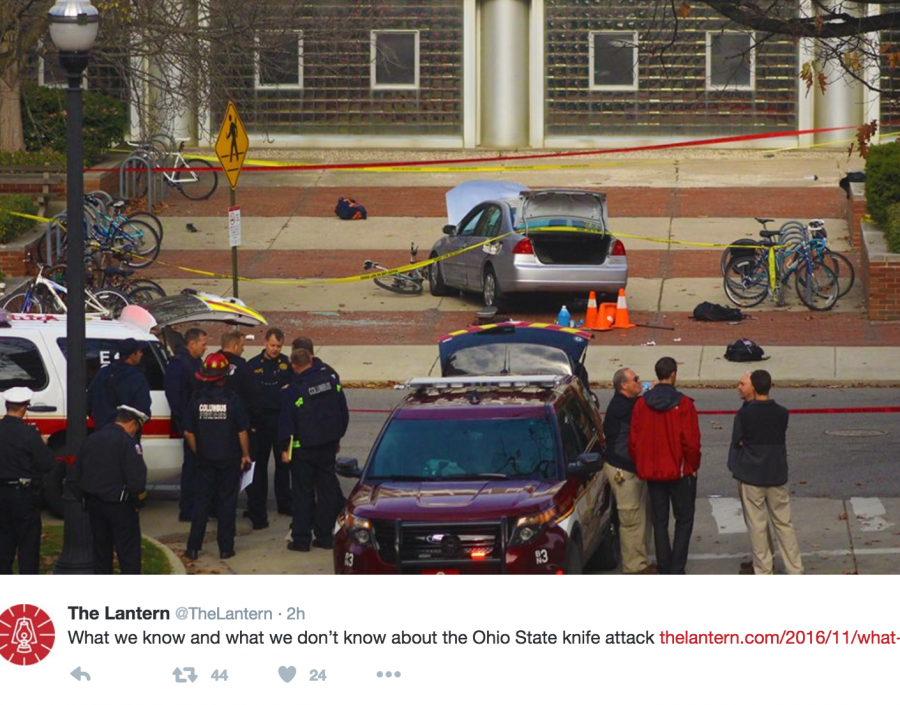 Knife attack at Ohio State leaves 11 hospitalized, attacker dead
