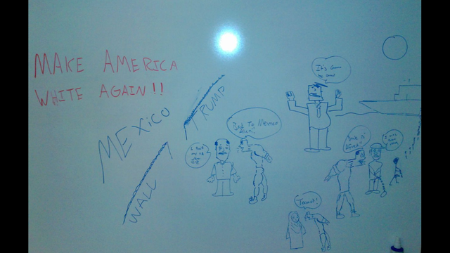 These racially charged drawings were found in the UNF Library.Photo courtesy Action News Jax