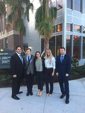 The UNF Ethics Bowl team. Photo by Jariss George