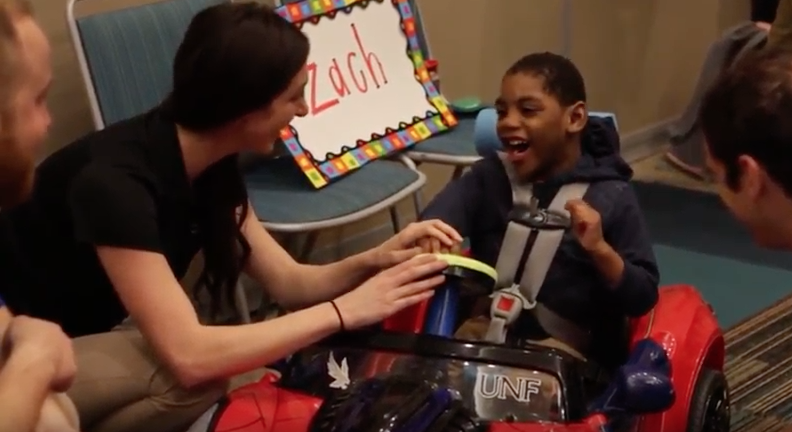 UNF engineering students build custom toys for disabled children