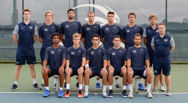 UNF Men's Tennis. Photos courtesy of UNF Athletics