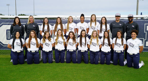 UNF softball team. Photos courtesy of UNF athletics