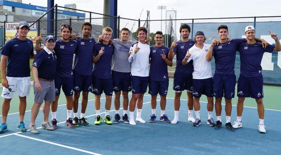 UNF Men's Tennis Team. Photo courtesy UNF Athletics