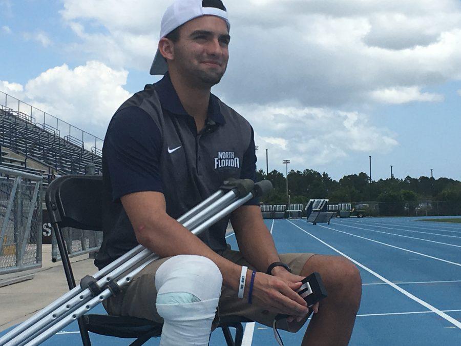 Track athlete upbeat, looking forward after career-ending crash
