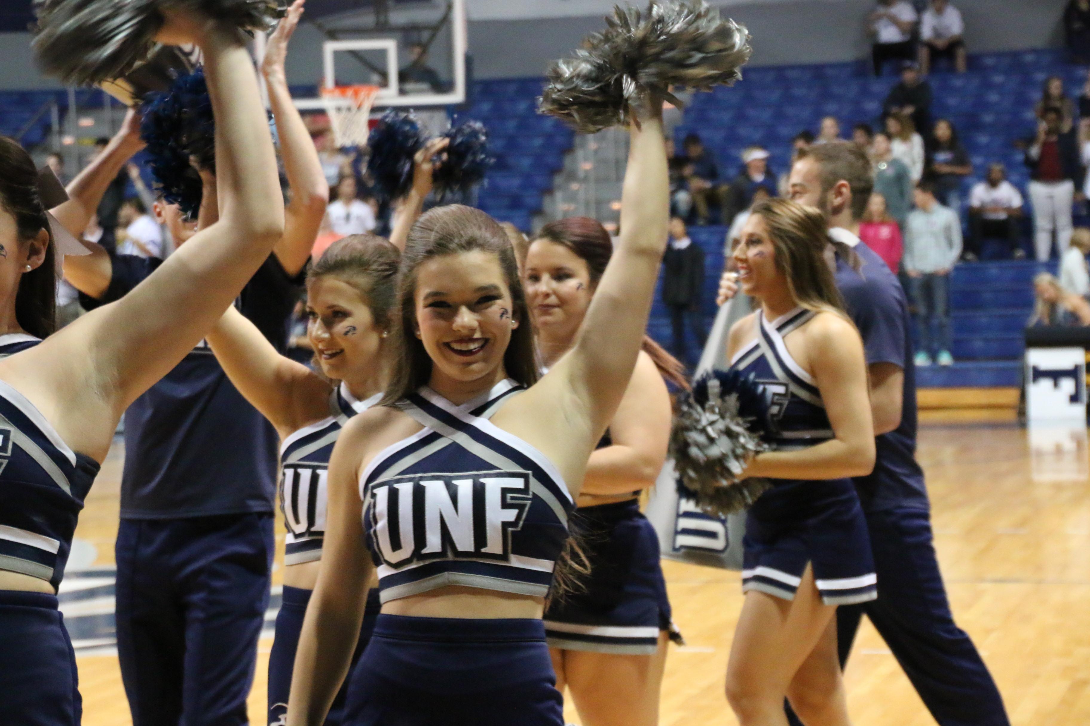 a closer look at unf cheerleading unf spinnaker