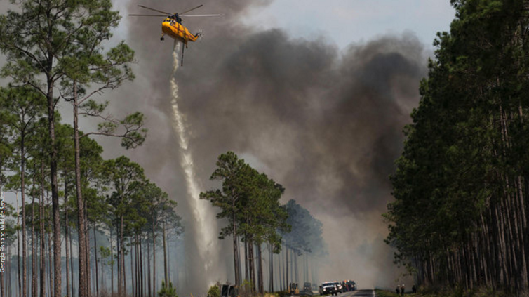 This wildfire is 102 times the size of UNFs campus. Picture courtesy of Channel 4