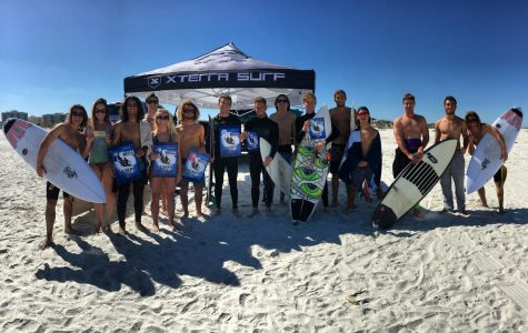 The surf team is headed to California for a competition. Photo by UNF's Surf Team