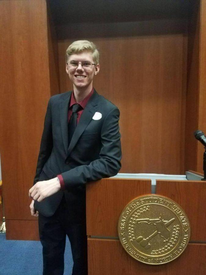 Student Body President Thomas Beaucham