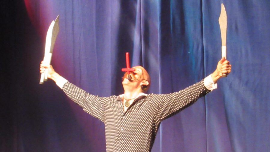 Team Rootberry showed off their sword swallowing skills. Photo by Joslyn Simmons