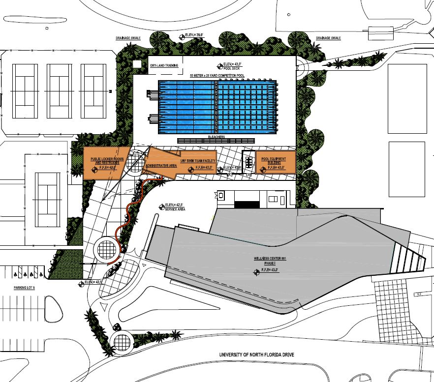 UNF plans for new swimming pool - UNF Spinnaker