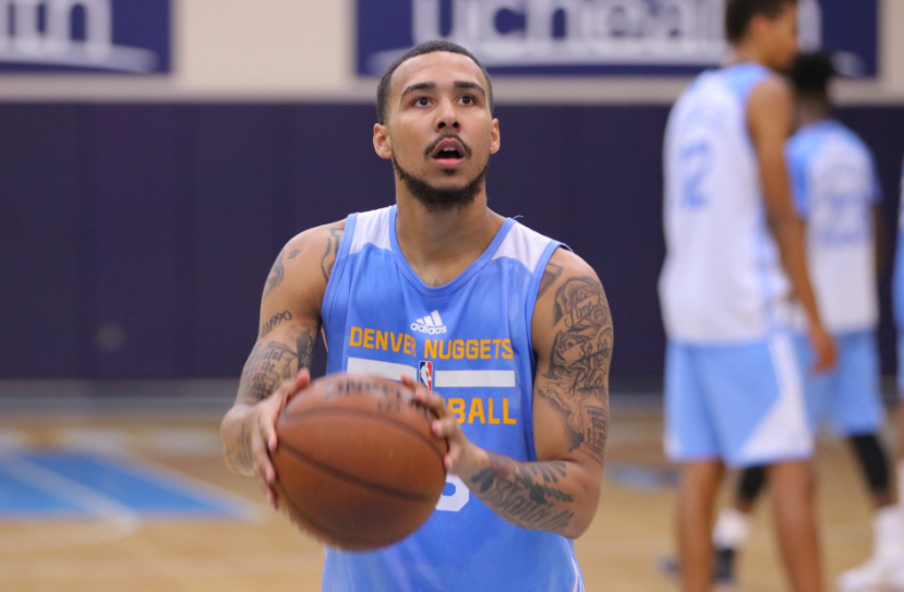 Former UNF baller Dallas Moore is currently playing in the summer league. Photo courtesy of the Denver Nuggets