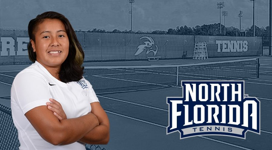 New women's tennis assistant coach Quetzali Vazquez. Photo courtesy of UNF Athletics