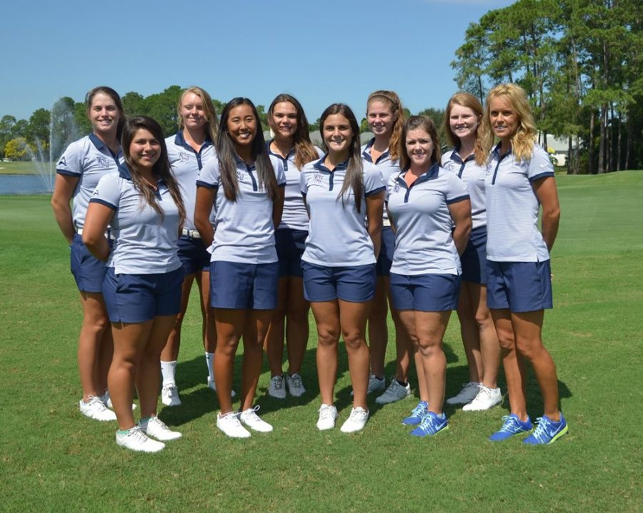 The 2016-2017 Women's Golf team. Photo courtesy of UNF Athletics.