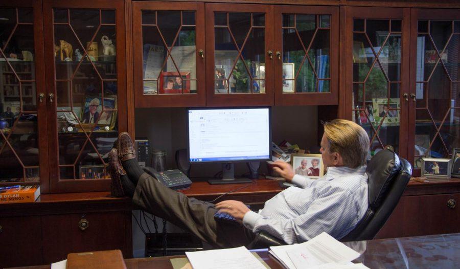 John Delaney recently wrote an editorial praising UNF. Photo by Lili Weinstein.