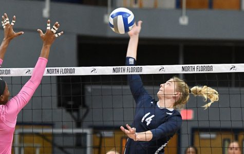 Junior middle blocker Alana Shoff. Photo courtesy of UNF Athletics.
