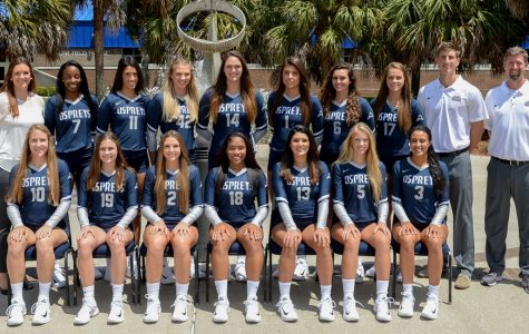 The UNF volleyball team. Photo courtesy of UNF Athletics.