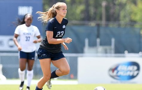 Women's soccer defeats JU with goal in second overtime
