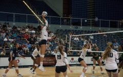 Volleyball falls in the part one of the River City Rumble