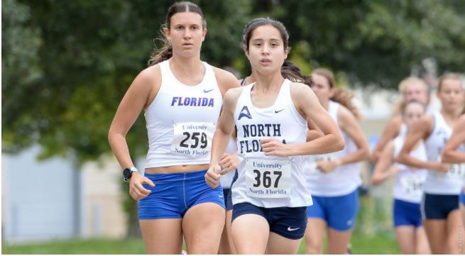 Eden Meyer earned the top spot in the Mt.Dew Invitational. Photo courtesy of UNF Athletics.