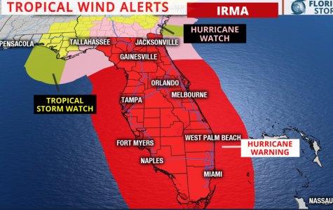 Jacksonville under Hurricane Warning as Hurricane Irma approaches