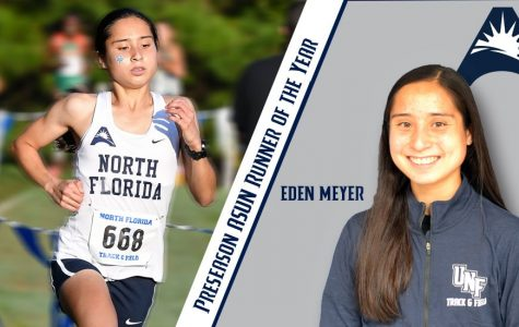 Senior cross country runner Eden Meyer. Photo courtesy of UNF Athletics.
