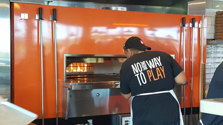 Fire-grilled oven used at Blaze Pizza. Photo by Alexandra Torres-Perez