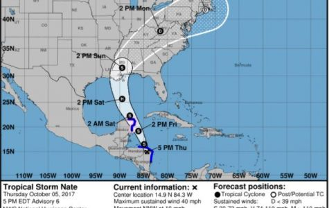 Tropical Storm Nate's path prediction steers clear of Jacksonville